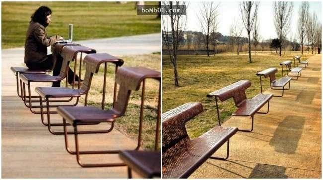公共场所设施的舒适度能够体现一个城市的发达程度.图片