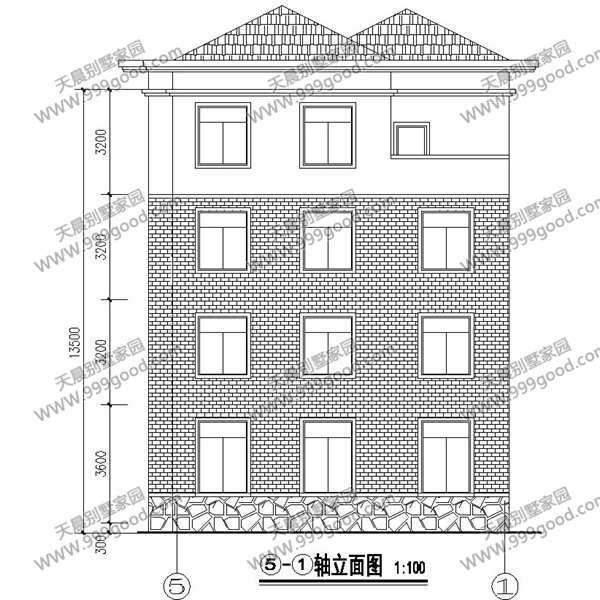 新农村四层别墅设计图,  wbr>10x13米简欧风格带车库,  wbr>含预算!