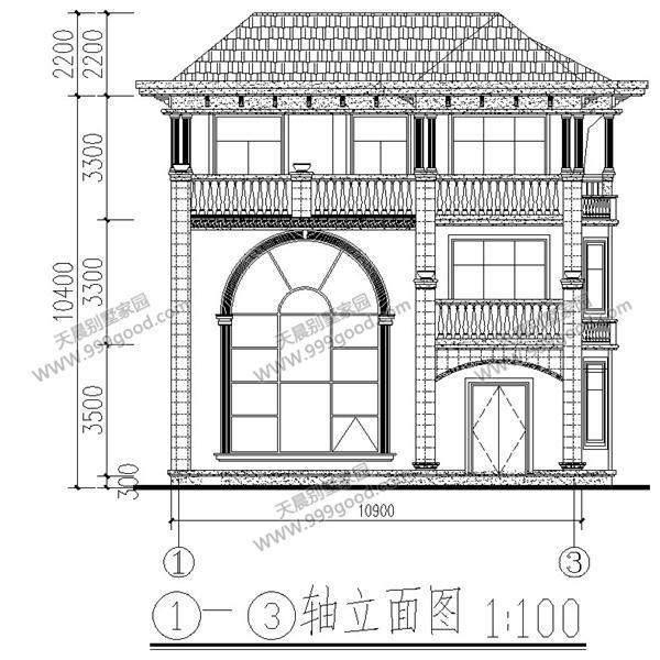 农村自建三层别墅设计图