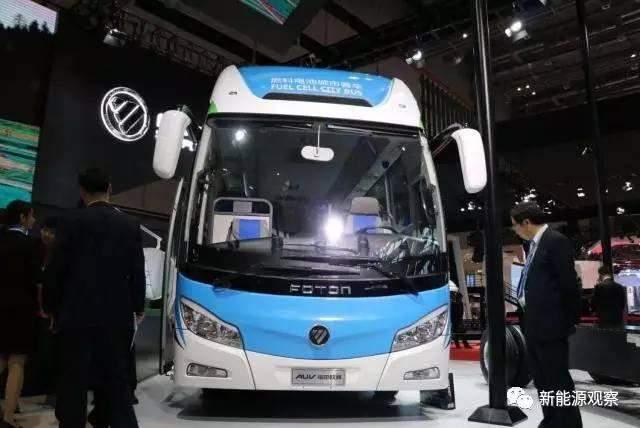 """上海车展""""氢""""科技,福田欧辉8.5氢燃料电池客车"""