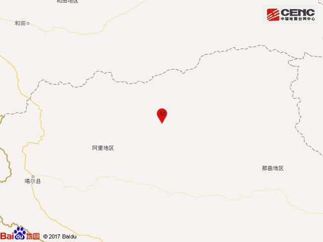 澳门mg电子游戏:今天凌晨西藏阿里发生3.7级地震_震中位于高原无人区