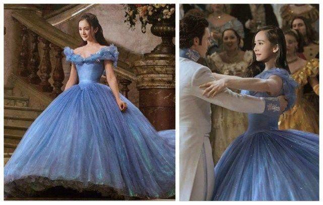 同样是蓝色礼服, 赵丽颖排最后, 杨幂最公主, 你同意吗