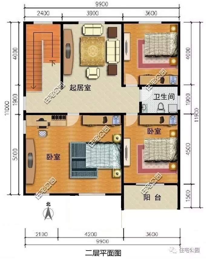 10套面宽不足10米的户型,真正适合农村小宅基地的别墅