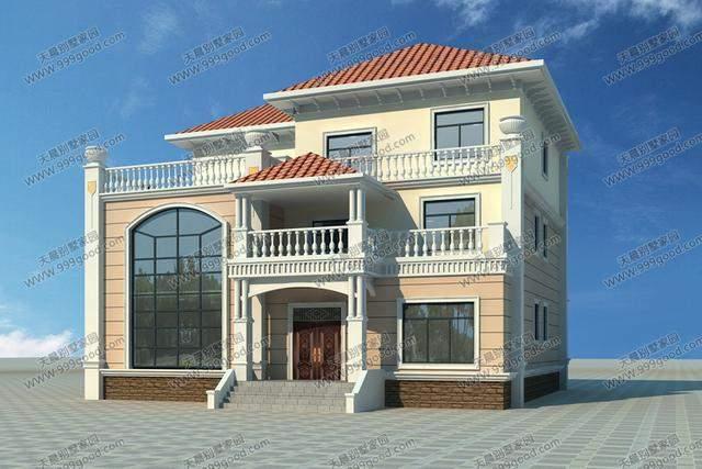 农村8套精选别墅设计图,  wbr>每套盖完都比效果图好看