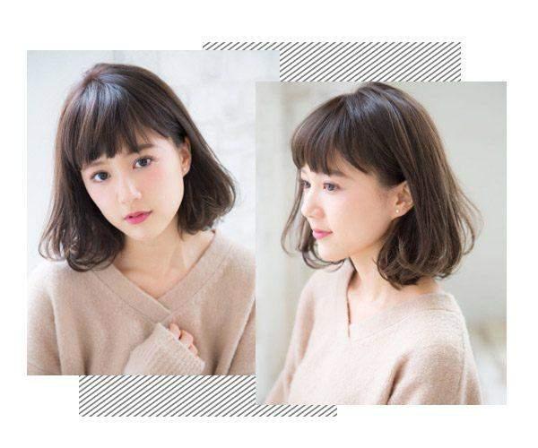二次元短刘海搭配蓬蓬的波波头短发造型让妹子变更美,设计简单