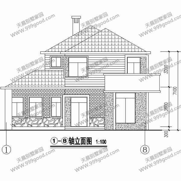 14x12.5米乡村别墅设计图, 二层布局实用有内涵
