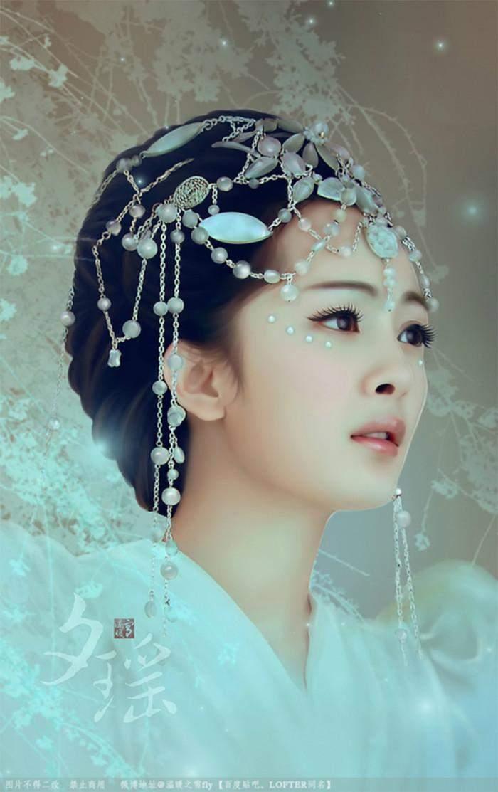 额间戴花最美的10位女星, 赵丽颖杨幂 都没有第一的她
