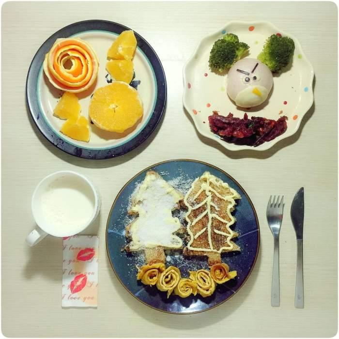 浙江妈妈多年坚持5点半起来做早餐 用美食和孩子交流