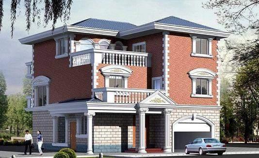 5套农村别墅设计图, 搭配这样的建筑材料堪称完美
