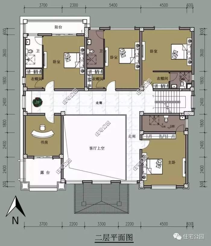 5x18自建农村房平面设计图