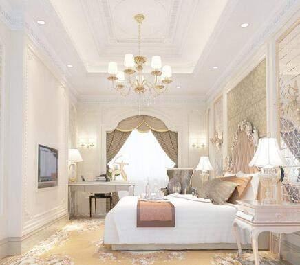 简欧式卧室装修效果图四 简欧式风格设计并不是说完全就抛弃了以往的