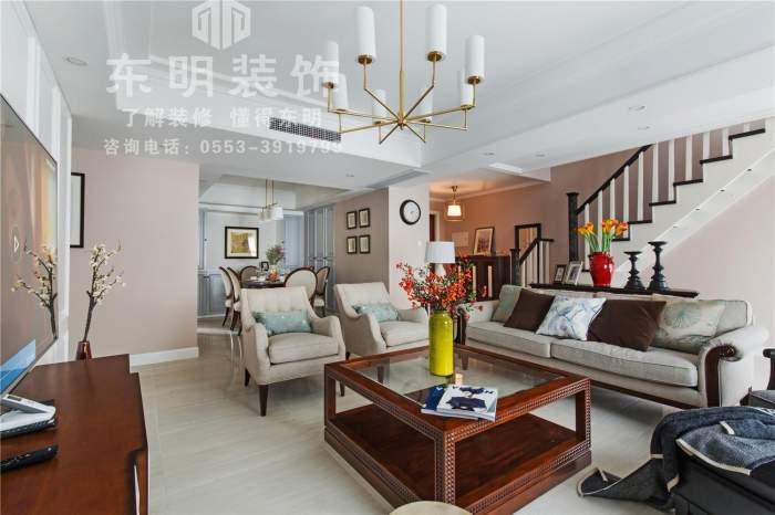 芜湖恒大华府150平四居室美式风格全包装修案例效果