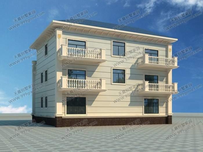 农村三层别墅15.5x14.6米设计图