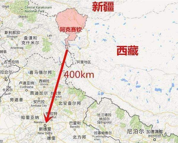 巴基斯坦与中国地图