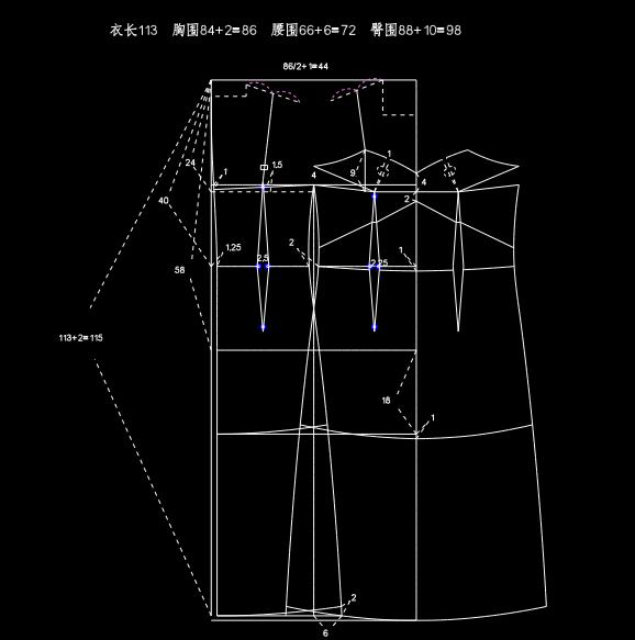 吊带连衣裙打版制图-服装打版裁剪