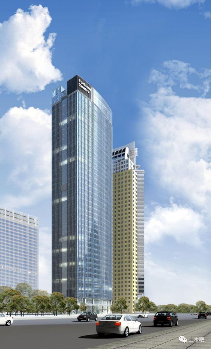 全国最高的全钢结构住宅大楼.5幢,62层,建筑高度258米.