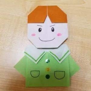 儿童节可爱小男孩脸蛋手工折纸教程