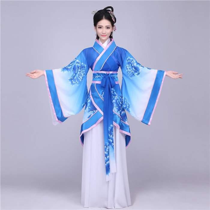 中式古装汉服详细打版裁剪制图图片