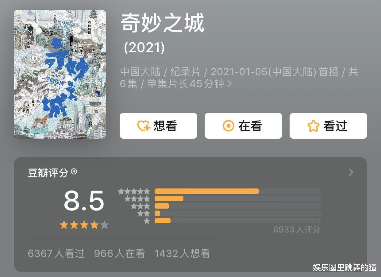 肖战奇妙之城开播,豆瓣评分飙升至8.5,却被指责数据注水?