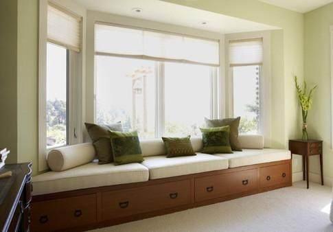 飘窗砸掉后设计成阳台图,卧室飘窗砸掉后设计图片