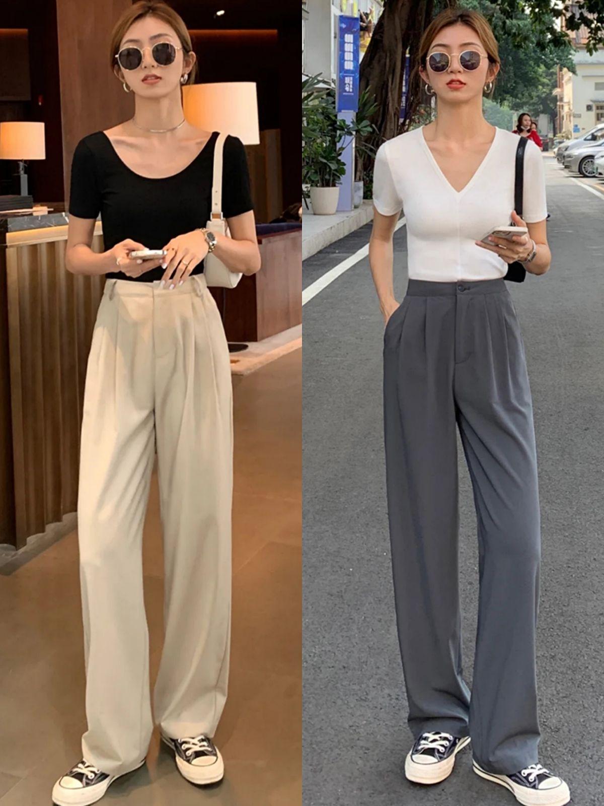 """夏季上衣流行""""穿短不穿长"""",配这4种裤装,简约时髦又显腿长"""
