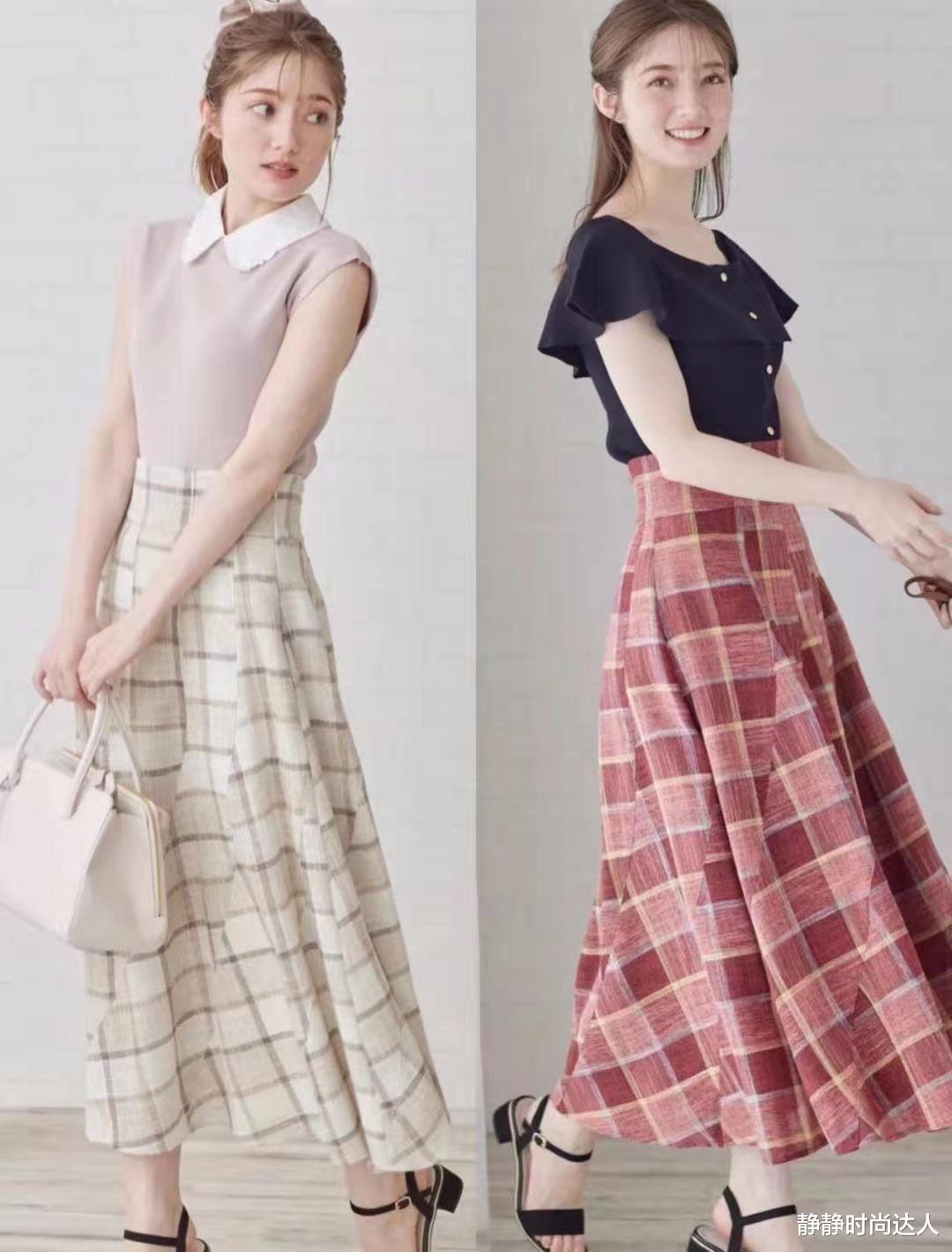半身裙怎么穿才好看?分享2类日系半身裙的穿搭套路,超实用