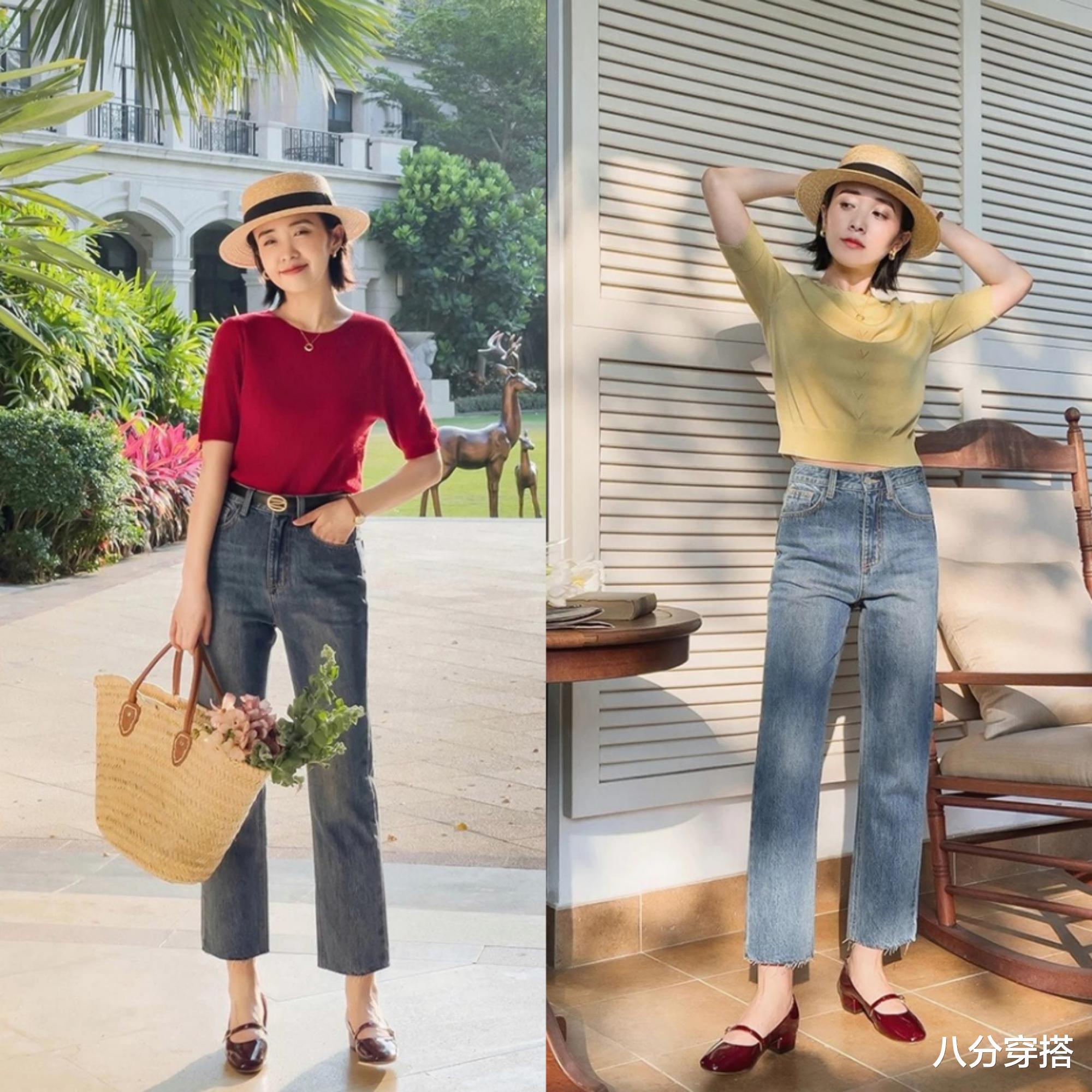 夏季针织衫怎么穿?看看这几个搭配小技巧,优雅温柔又有气质感