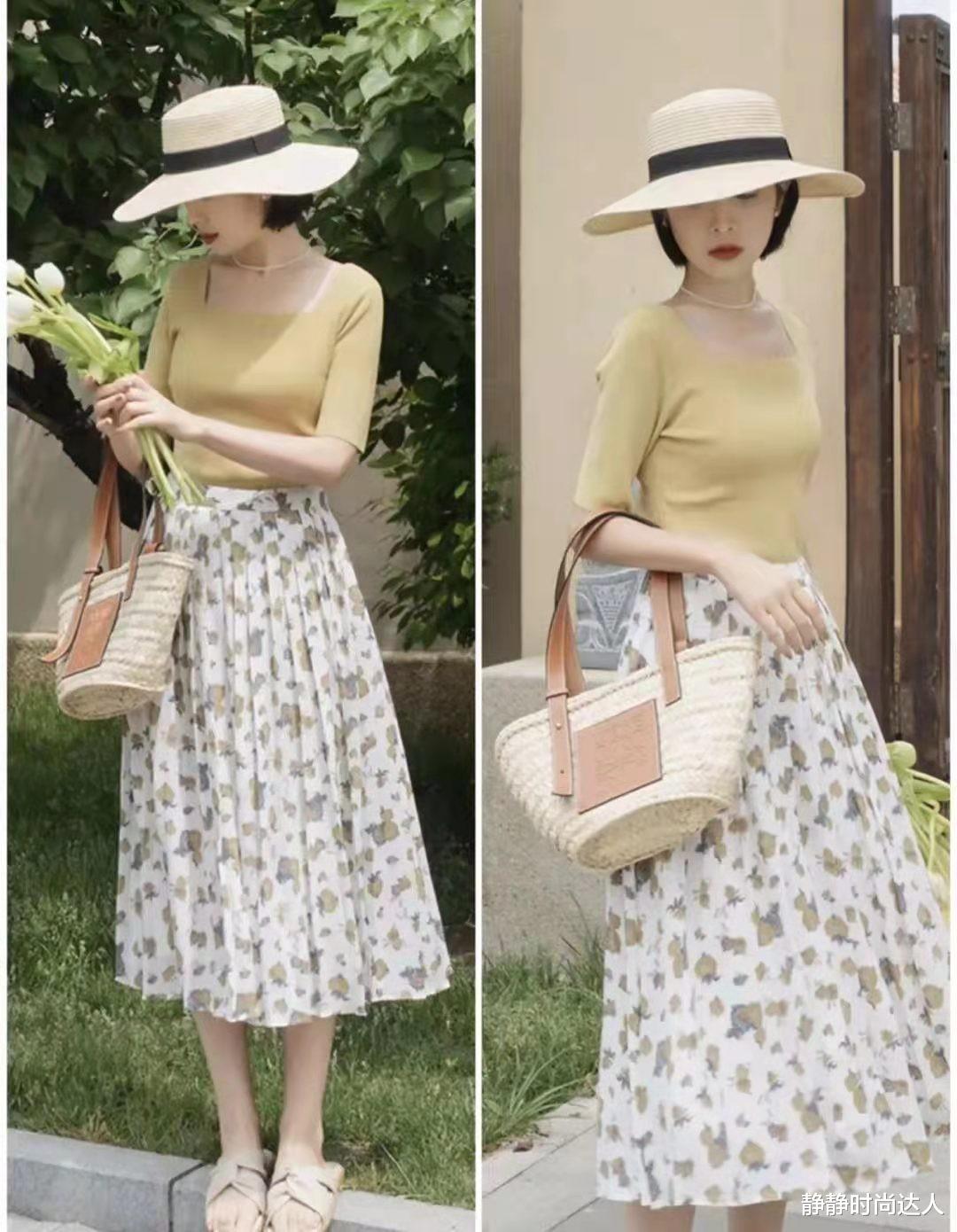 夏天怎么能少了碎花裙?这么穿不装嫩,40岁的女人照着穿就好