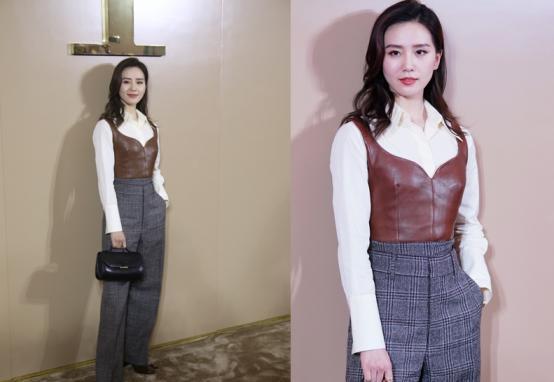 刘诗诗造型挺大胆,薄纱衬衫显骨感曲线,白皙肌肤更让人羡慕
