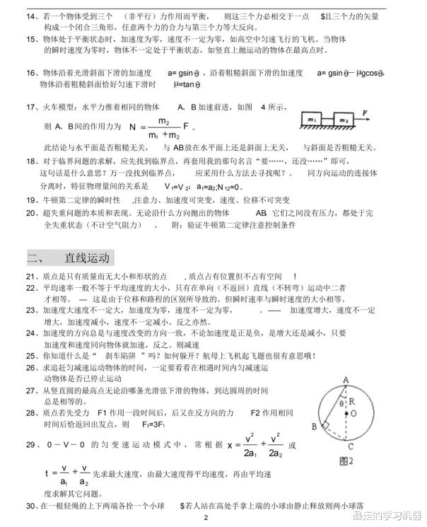 高中物理153条经典结论,吃透做题时间少一半,考试直接用