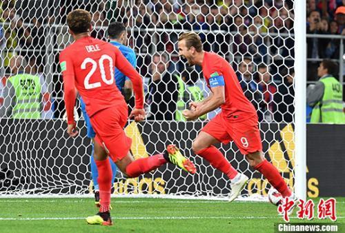 英格兰点球大战总比分5: 4淘汰哥伦比亚 晋级八