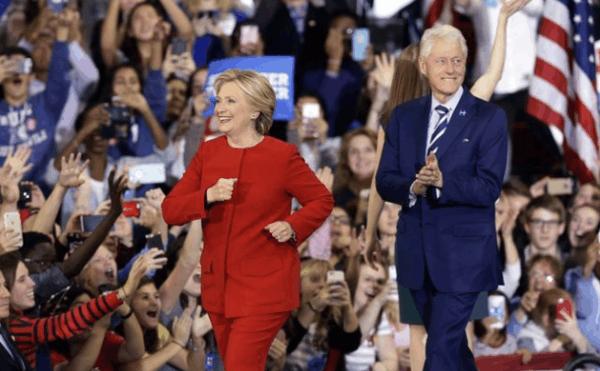 从肢体语言看美国大选最后站拉票 希拉里胜券在握