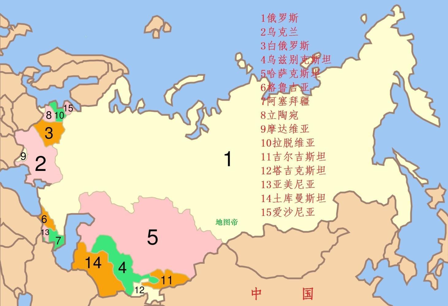 1991年, 苏联解体成15国, 南斯拉夫解体成5国
