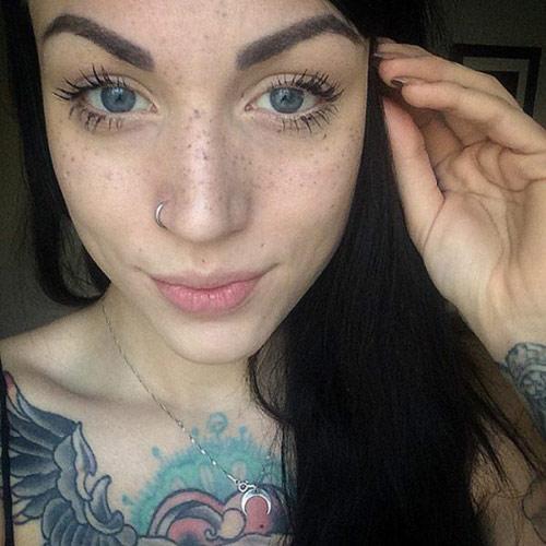 欧美少女都在疯的雀斑刺青