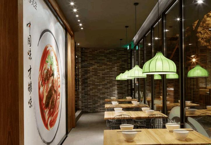 从牛肉面餐厅平面布局设计,来看装修施工效果,对生意影响有多大