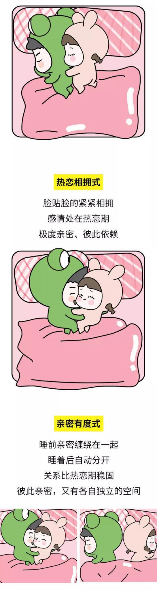 情侣睡觉的正确姿势大全, 看的劳资嫩脸一红