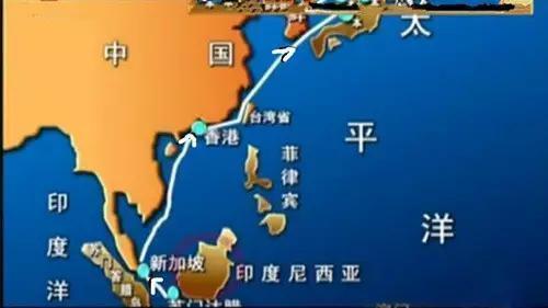 """福建省牛山岛以东海域,被正在该海域巡航的美军潜水舰""""皇后鱼号""""发现"""