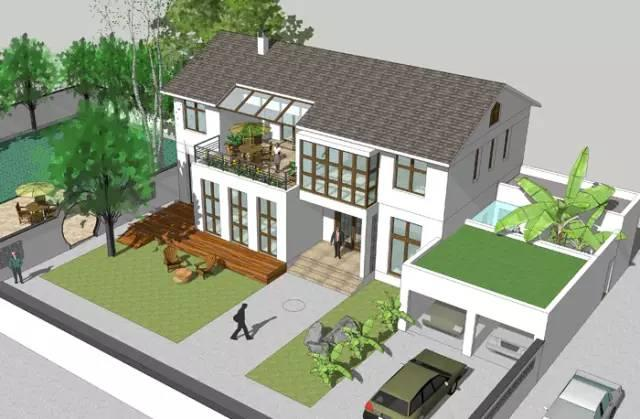 两层坡屋顶中式独栋乡村自建房设计案例