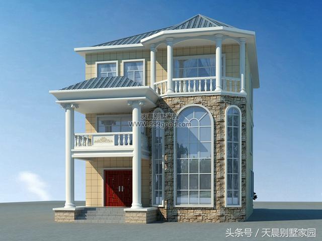 新农村欧式小别墅,开间9.3米采光好,造价30万,经济适合农村盖