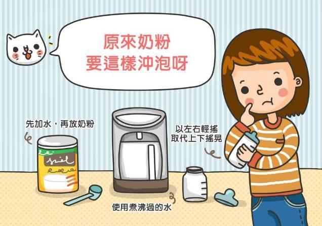冲泡奶粉的正确步骤