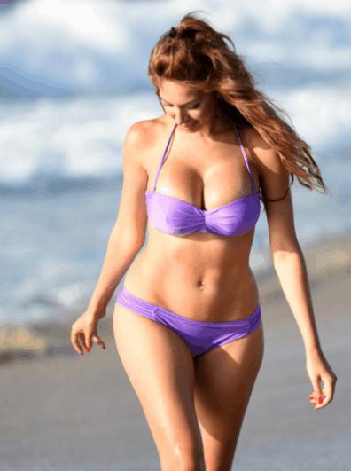欧美女星ashlynn海边度假, 网友: 和她相处一天要瘦十