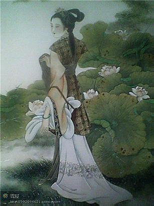 中国古代四大美女手绘图