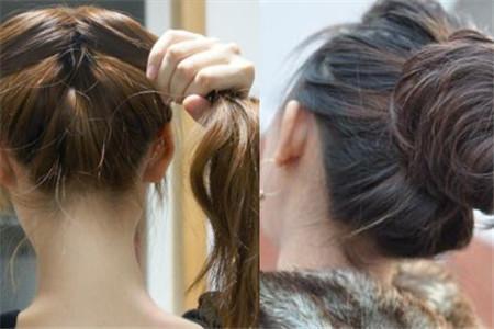 大方美丽的盘发头扎法小a盘发必备的发型发型夏季花苞中长图片