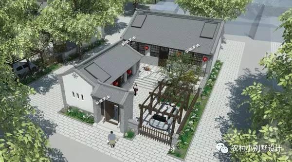 平房小院设计实景图