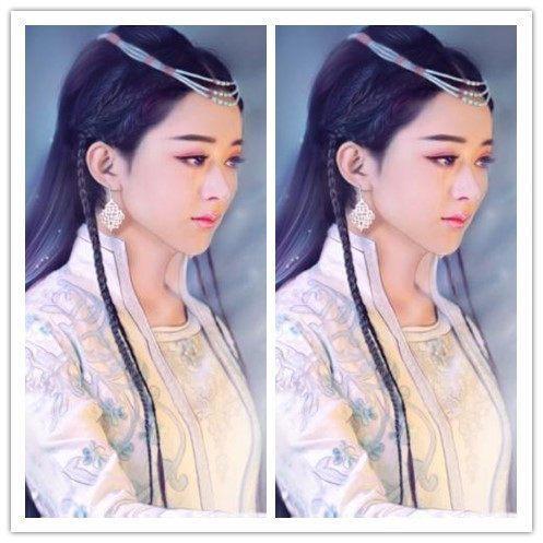 赵丽颖的8张古装手绘图, 碧瑶灵动, 红绫可爱, 倒数一