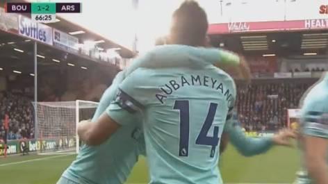 英超-科拉希纳茨造两球奥巴梅扬破门 阿森纳2-1伯恩茅斯