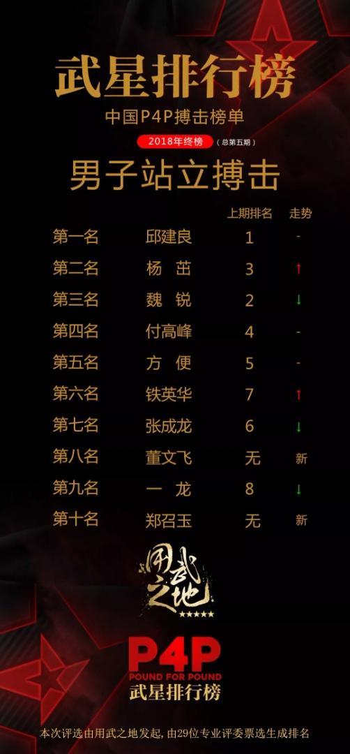 中国自在搏击最能打的10人出炉! 一龙仅排第9, 付岑岭竟歧便强