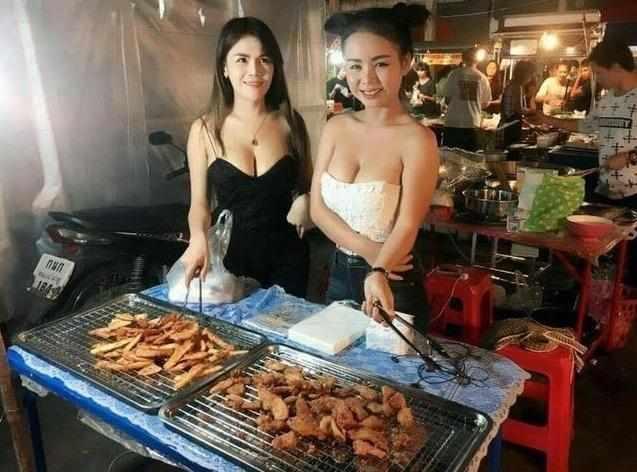都说泰国小吃店盛产美艳老板娘,现实中却是两个样-中国记录