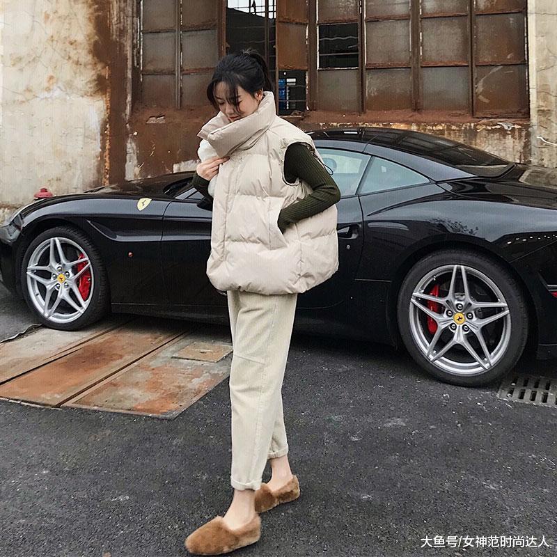 听说,羽绒马甲+毛衣保暖又时尚,打破冬季乏味穿搭