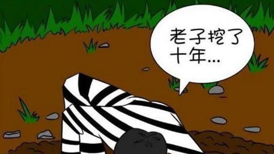 搞笑漫画: 囚犯用10年成功越狱, 却想骂自己是智障!